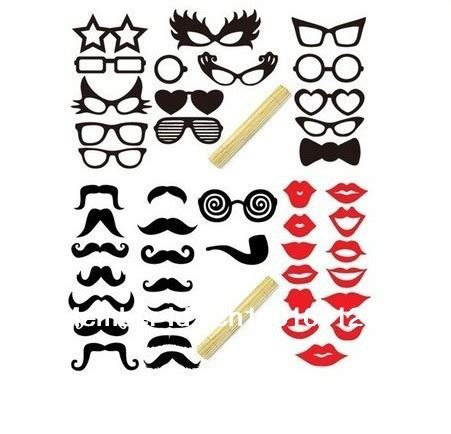 hot sale new 41pcs funny mask wedding party photography