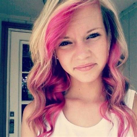 Blone Hair With Pink Streaks | blonde with pink streaks hairstyles for long hair