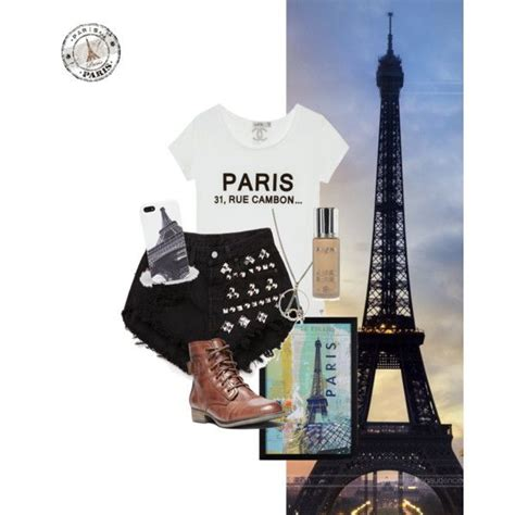 paris room theme polyvore paris outfit themed based outfits pinterest
