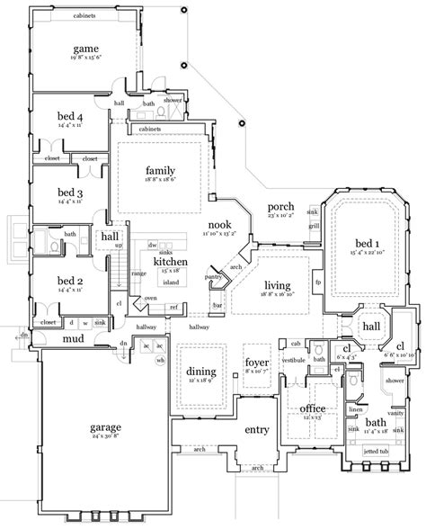 cool home floor plans cool house plans a frame cottage house plans