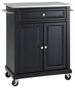 stainless steel kitchen island cart stainless steel top portable kitchen cart island