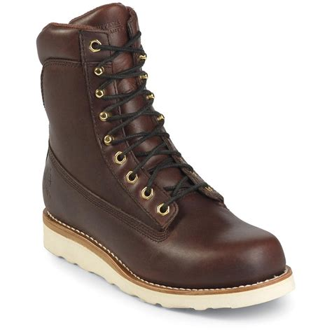 chippewa mens work boots s 8 quot chippewa 174 boots redwood 160228 work boots at