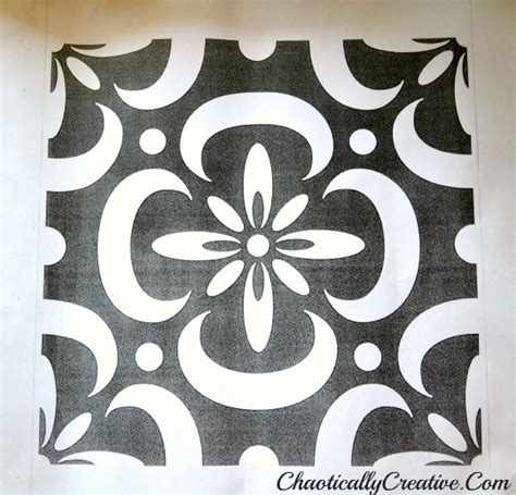 Large Floor Stencils stenciled porch floor chaotically creative