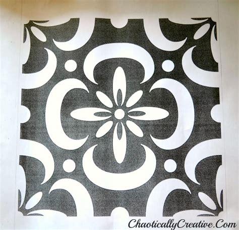 Stenciled porch floor chaotically creative large floor stencils in epoxy floor style floors