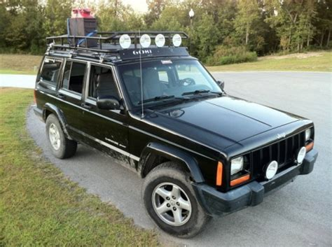 jeep xj light bar roof rack light bars and bumper lights jeep