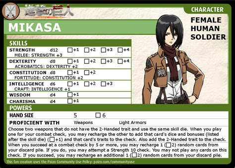 pathfinder adventure card icon templates pathfinder acg character mikasa part 4 of 4 by