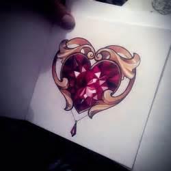 25 best ideas about diamond heart tattoos on pinterest