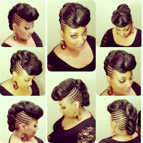 hair braids going up in a ball naturalhair protectivestyle front braided with back