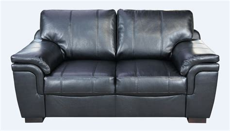 sofa 4 u amy 2 seater leather sofa settee available in black or brown