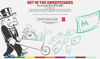 Mcdonalds Online Sweepstakes - mcdonald s online game win 10 000 2014 monopoly swe giveawayus com