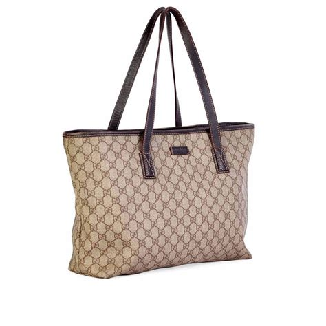gucci monogram top zip tote bag luxity