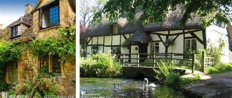 desain rumah inggris halaman hijau
