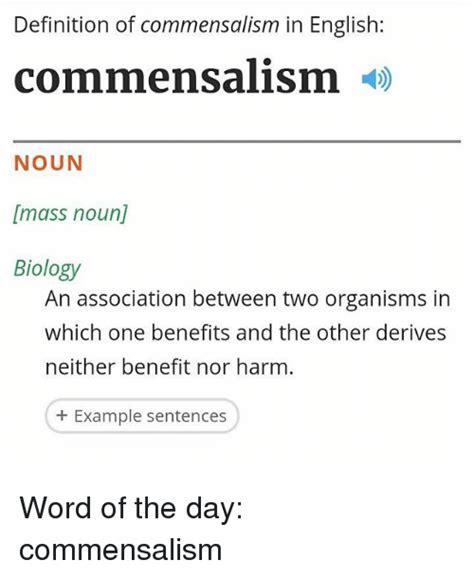 Meme Definition English - definition of commensalism in english commensalism noun