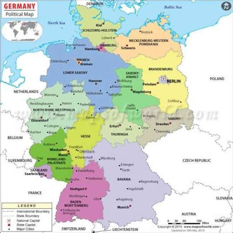 map of germany with states and capitals map of germany map travel holidaymapq