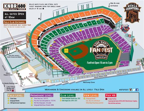 san francisco map at t park knbr giants fanfest 2015 at t park funcheap