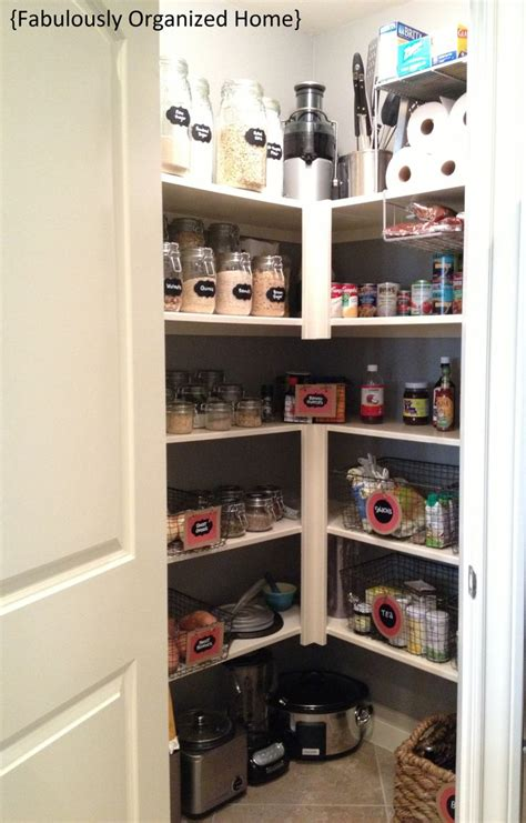 organized pantry corner pantry organize pinterest