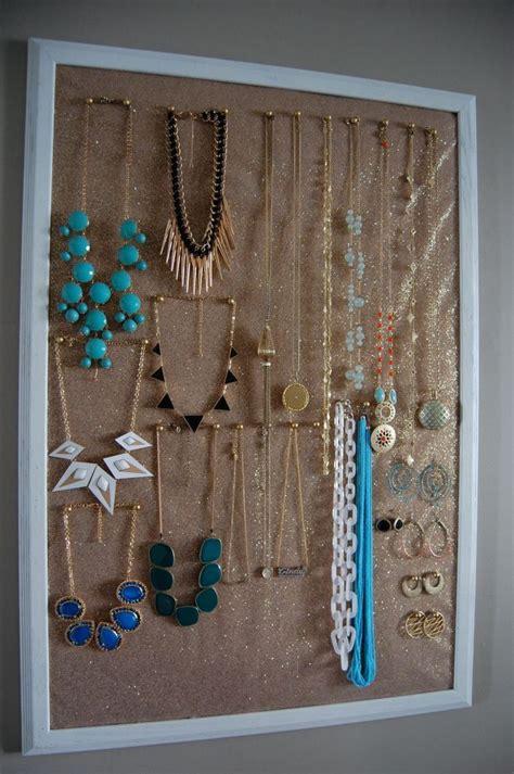 diy necklace organizer diy jewelry organizer craft ideas