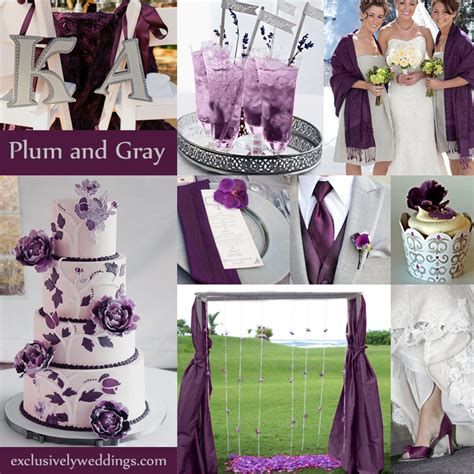 plum wedding colors gray wedding color the new neutral exclusively weddings