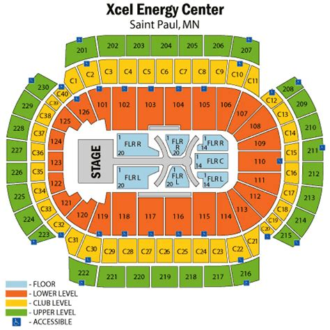 xcel energy center minneapolis seating chart