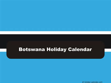 Botswana Calend 2018 Botswana 2018 2019 Calendar