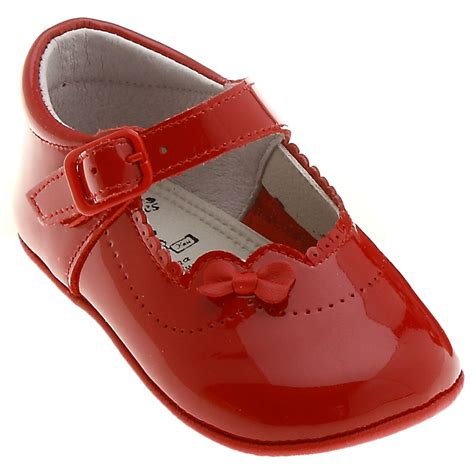 baby pram shoes in patent leather cachet