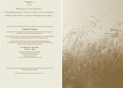 Invitation Letter Malaysia Media Invitation Project Launch Of Fields Of Gold By