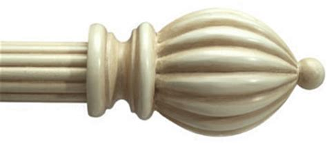 Alassie custom 1 3 8 quot wood curtain rod in antique white