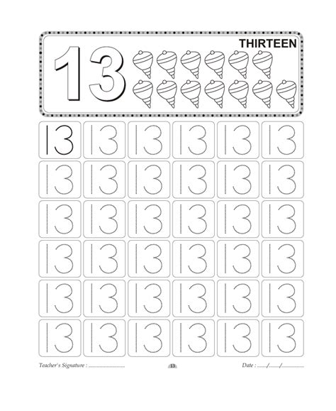 coloring pages for the number 13 number worksheet category page 2 worksheeto com
