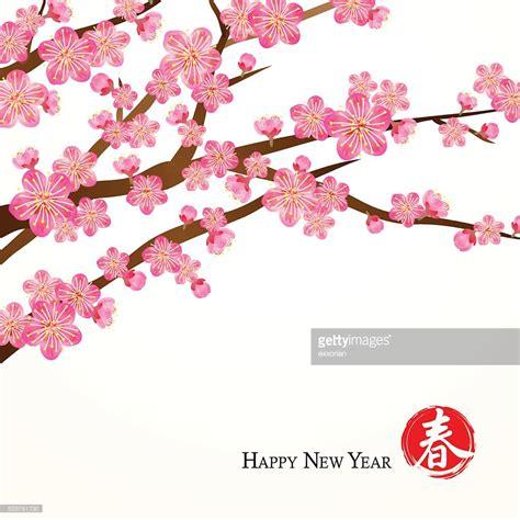new year pink flower new year flowers vector getty images