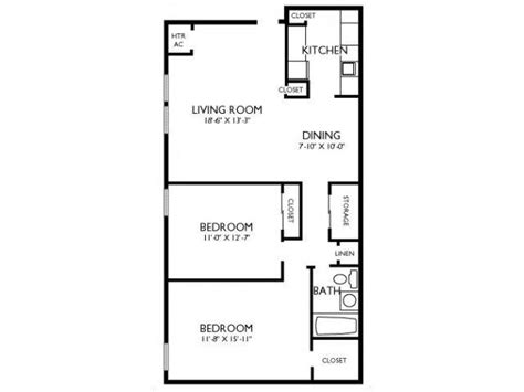 2 Bedroom 1 Bath Floor Plans 2 Bed 1 Bath Apartment For Rent At Joshua House Apartments