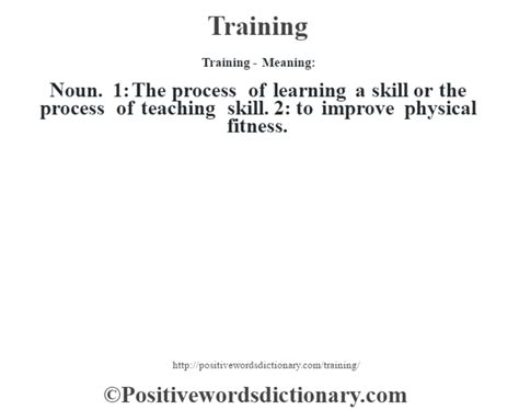 tutorial video meaning training definition training meaning positive words