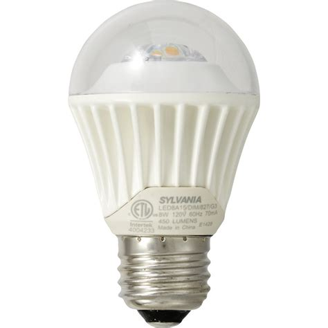 Led Light Bulbs 40 Watt Equivalent Sylvania 8 Watt 40 W Equivalent A15 Medium Base E 26 Base Dimmable Soft White Indoor Led