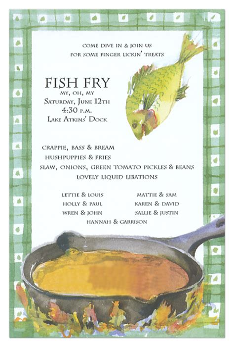 Fish Fry Invitation Polka Dot Design Free Fish Fry Flyer Template