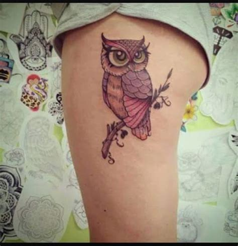 imagenes de tatuajes de buhos para mujeres lechuza sobre rama tatuajes para mujeres