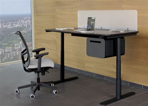 standing height desk with storage flight electric sit stand desk tag office