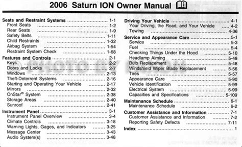 online car repair manuals free 2006 saturn ion on board diagnostic system 2006 saturn ion owner s manual original