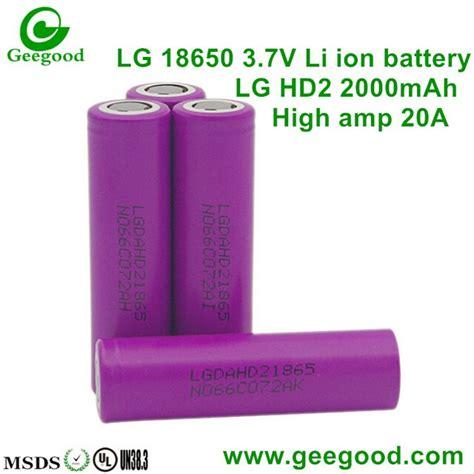 Battery Vapor Vape Vaporizer Lg He4 18650 Li Ion 2500mah 37v Flat Top shenzhen geegood technology co ltd