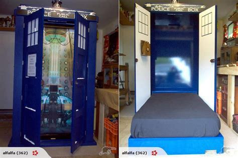 dr who bedroom this tardis fold down bed is the bed of my dreams pics