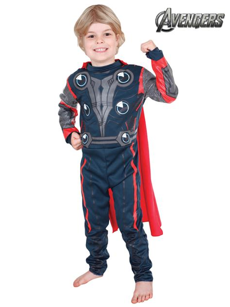 marvel the thor child costume licensed boys ebay licensed thor the avenger childs boys costume fancy dress ebay