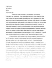 Apush Essay Mexican American War apush dbq mexican war catherine ap us history period 4 15 december 2013 to what extent