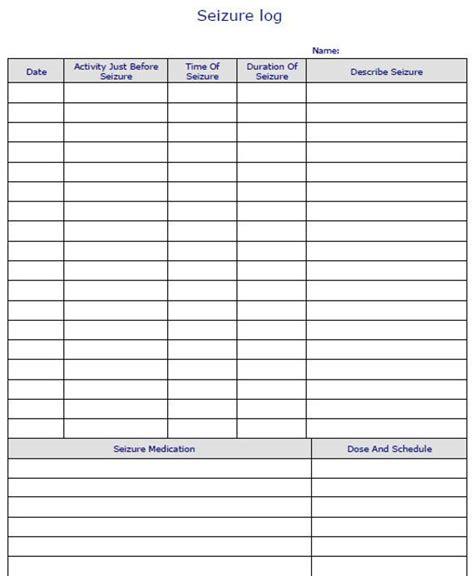 Fillable Digital Seizure Log Pdf Digital Health Forms Seizure Log Template