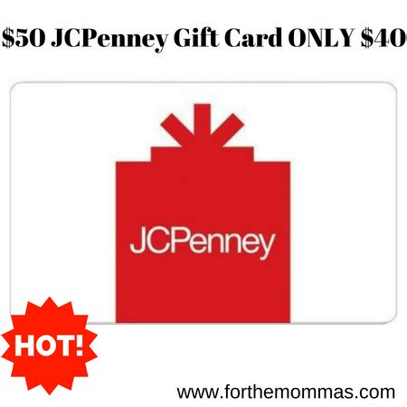 50 jcpenney gift card for only 40 ftm