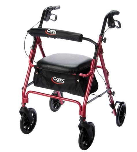 walkers with a seat carex roller walker with seat buy rollator walkers a222 00