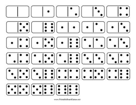 printable domino double six set