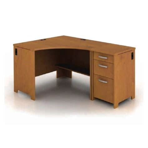 Bush Envoy Corner Desk Bush Envoy Corner Desk And File Pedestal In Cherry Env Pkg2