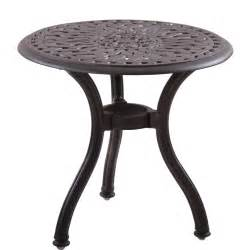 patio accent tables darlee series 60 cast aluminum round patio end table