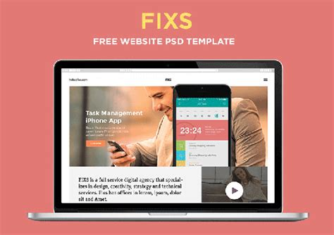 Free Single Page Website Template Zippypixels Single Page Website Template
