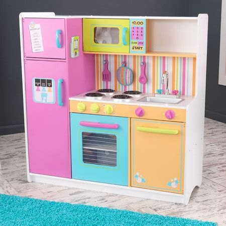 Kidkraft Big Bright Kitchen On Sale Now Cheapest Kidkraft Deluxe Big Bright Kitchen 53100
