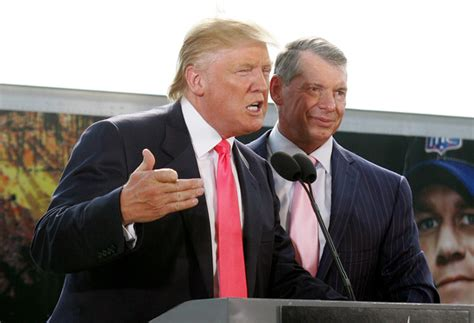 trumpmania vince mcmahon and the of america s 45th president books donald vince mcmahon make history pictures