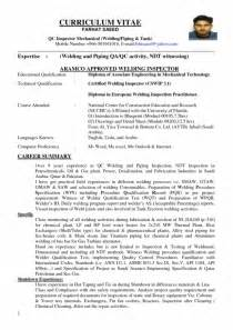 Quality Inspector Resume by Quality Inspector Resume Sle Sles Of Resumes